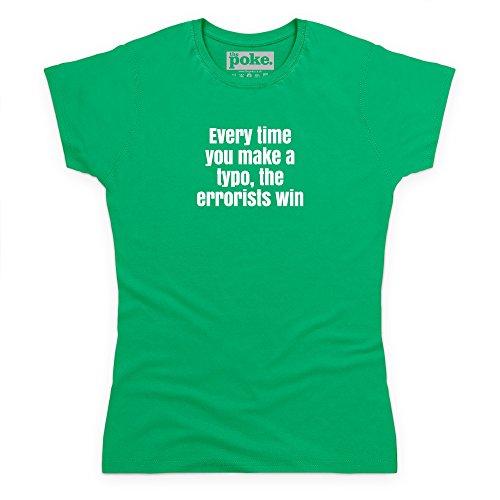 Typo T-Shirt, Damen Keltisch-Grn