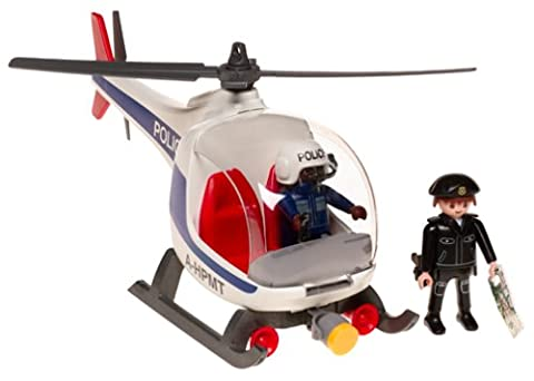 Playmobil - 3908 - Policiers - Policier intervention + Helicoptere