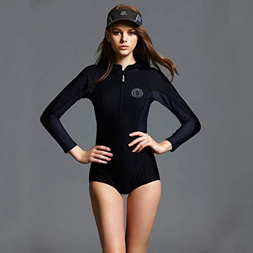 MICOKY Badeanzüge für Damen Frauen Einteilige Badeanzüge Mode Einfache Persönlichkeit Komfortable Größe Langarm Racing Dreieck Bademode L