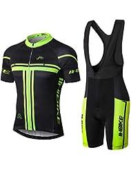 INBIKE Conjunto Ropa Equipacion Traje Ciclismo Hombre para Verano, Maillot Ciclismo Hombre+Culotte Ciclismo Culote Bicicleta (XXL)