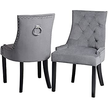 My Furniture Upholstered Scoop Back Dining Chair With Back