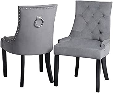 My Furniture Torino Esstischstuhl mit Rückenring Smoke