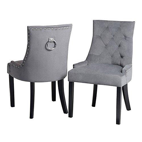 My-Furniture Torino Esstischstuhl mit Rückenring - Smoke