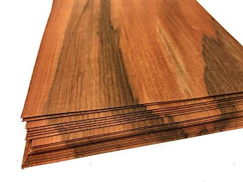 1qm Holzfurniere = 17-28 Echtholz Platten, Holz Set geeignet als Bastelholz, Heimwerken, Modelbau, Deko, DIY, Ausbesserungsarbeiten, Fotografie, Geschenk, Restauration, Schmuck (Tineo)