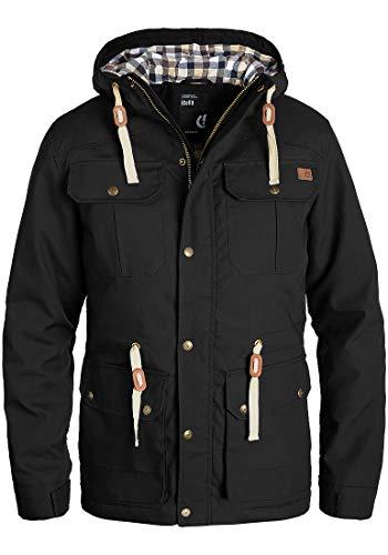 !Solid Chara Herren Übergangsjacke Herrenjacke Jacke Mit Kapuze, Größe:M, Farbe:Black (9000) Solid Windjacke