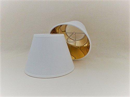 Weiß Kleine Kerze Clip auf Stoff Lampenschirm Gold Futter handgefertigt Deckenleuchte Wandleuchte Schatten Kronleuchter modernes Licht Schatten (Gold Stoff-futter)
