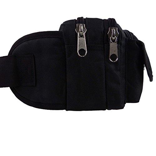 XL Gürteltasche/Allzwecktasche von MetroLite Praktische, handliche Fanny, Taille schwarz