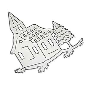 Stanz und Pr/ägeschablonen Stanzen Schablonen Scrapbook Stanzformen Zubeh/ör f/ür Big Shot und andere Stanzmaschine Silber Meclelin Stanzschablonen Weihnachten