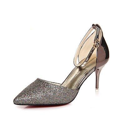 LvYuan Da donna-Sandali-Matrimonio Formale Serata e festa-D'Orsay Club Shoes-A stiletto-Vernice-Rosso Champagne champagne