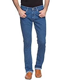 Spykar Mens Light Blue Slim Fit Low Rise Jeans (Rico) (38)