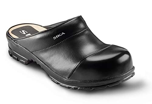 SIKA 54 Comfort Robuster Clog - Breite Passform und Fußbett aus Holz - Besonders Gute Strapazierfähigkeit - Schwarz - Gr. 44