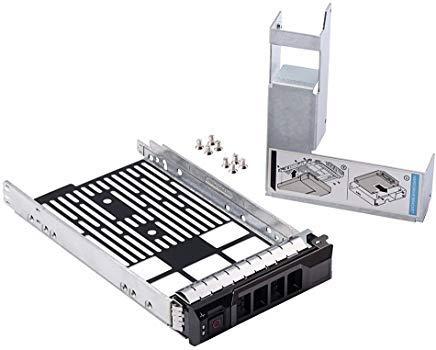 8,9cm SAS/SATA Festplatte Tray Caddy mit 6,3cm HDD Adapter SSD SAS SATA Halterung für Dell PowerEdge R320, R420, R720, T320, T420, T620Server F238F mit Schrauben von mveohos