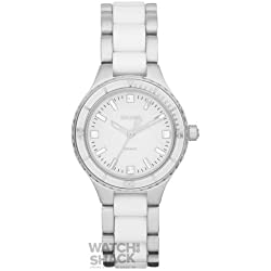 NY8498 Ladies Stainless Steel and White Ceramic Bracelet Watch