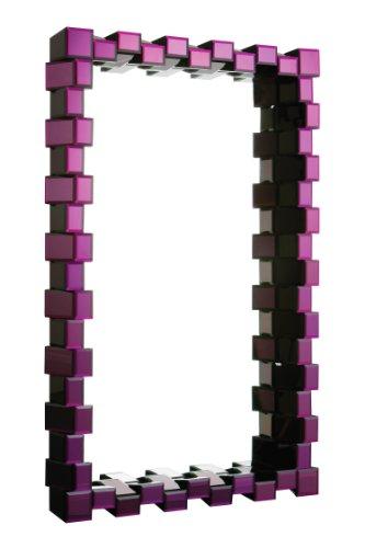 Premier Housewares 1101292 Specchio, Cornice Specchiata, Viola