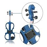 NUYI-4 Violín electroacústico Principiantes Azules de Alto Grado Que tocan Instrumentos de violín electroacústico