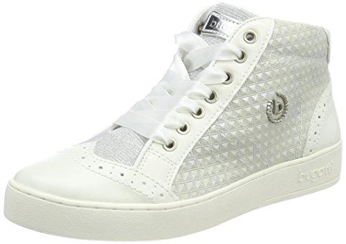 Bugatti Damen 421291315969 Hohe Sneaker, Weiß (White/Light Grey), 40 EU