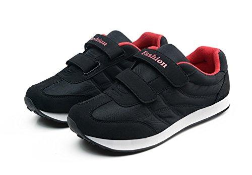 Casuel chaussure de sport souple léger antidérapage basket mode homme femme vieux Noir