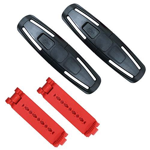 Baby Brustgurt Clip und Sicherheitsgurt Clip Schnalle,Autositz Sicherheitsgurt Clip Universal Sitz Brust Clip(4 Pack)