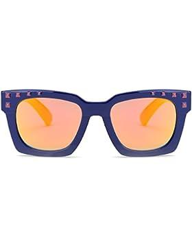 SojoS Kids Gafas De Sol Niños Y Niñas Polarizadas Marco Flexible Silicona Con Lentes Rectangulares Espejo SK203