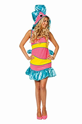 Damen Kostüm tropischer Fisch in rosa Karneval Fasching Gr.42 (Tropischer Fisch Kostüm)