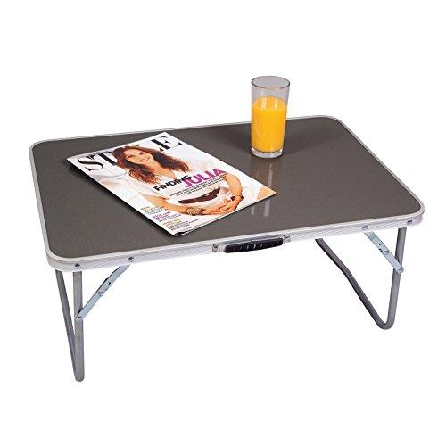 Niedriger Campingtisch 60 x 40 cm zusammenfaltbar bis zu 30kg belastbar • Gartentisch Klapptisch Koffertisch Falttisch Tisch Bierzelttisch - Niedriger Tisch