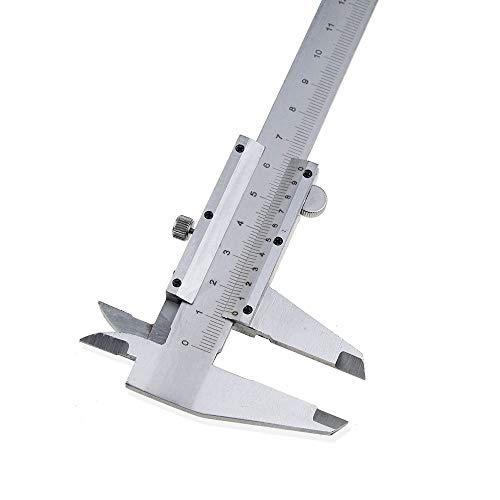 FGHKFGS Messschieber Nonius-Messschieber 0-150mmKohlenstoffstahl-metrische Mikrometer-Tiefenmessgeräte mit Kasten