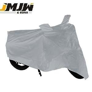 JMJW & SONS – Premium Silver Bike Body Cover for Yamah Fazer F1 (With Side Mirror Pockets)