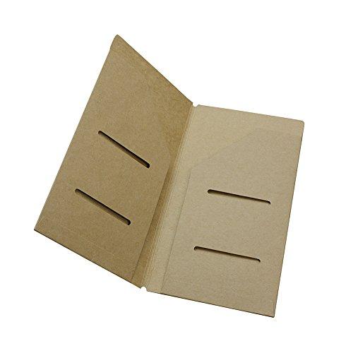 gossipboy Papier Travel Journal Refill Papier Schutz Jacke Reisende Notebook Innenseiten Cover für Fahrkarten Note Aufbewahrung, 210*230mm/9.05