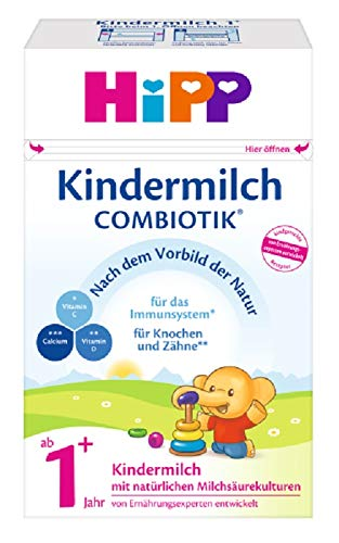 HiPP Kindermilch Combiotik, ab 1+ Jahr, 4er Pack (4 x 600 g) - Bag Safety First