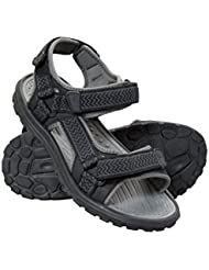 Mountain Warehouse Crete Mens Sandals - Durable Summer Shoes, Sturdy Grip, Cushioned Footbed, Neoprene Lined, Hook & Loop Straps Beach Shoes - for Spring Travel, Walking