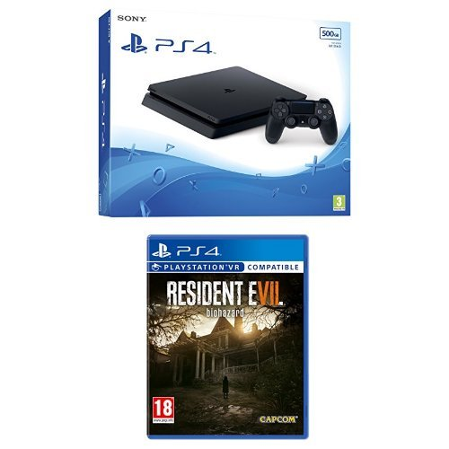Sony PlayStation 4 500GB Black + Resident Evil 7