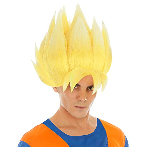 CoolChange Dragon Ball Perücke von Son Goku, Variante: Super-Saiyajin (Blond)