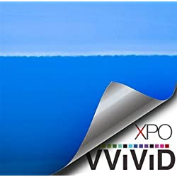 vvivid XPO glänzend Schlumpf blau riviera blue vinyl Car Wrap Film DIY Einfach zu installieren kein Kleckern Aufkleber