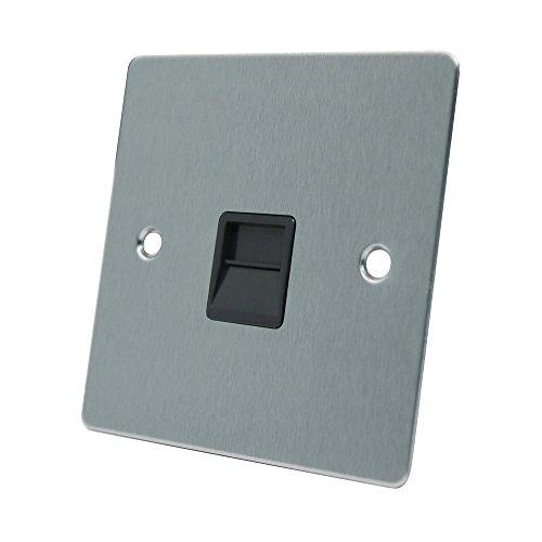 aet-fsctelsbl-satin-chrome-flat-telephone-slave-bt-phone-secondary-extension-socket-with-black-inser