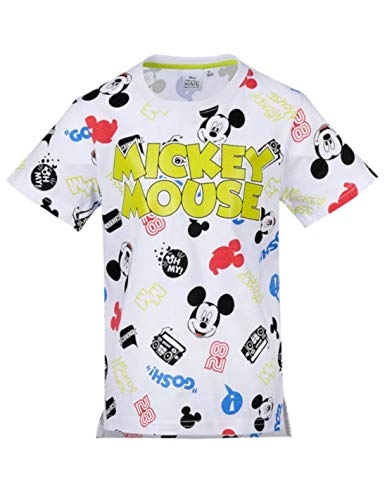 Mickey Mouse - Camiseta de Manga Corta - Manga Corta - para niño Blan