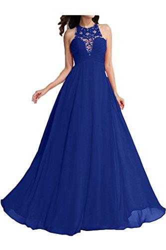 ivyd ressing robe fashion perles a col-ligne ronde fixe Soirée Party robe robe bleu roi