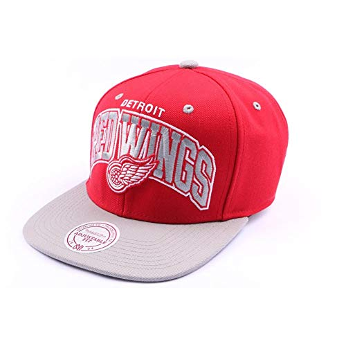 Mitchell & Ness Snapback Detroit Redwings Rouge et Grise - Mixte