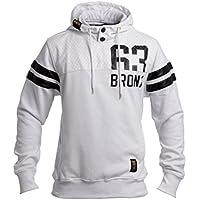CrossHatch Men's Piratez Hooded 63 Bronx Hoodie, White