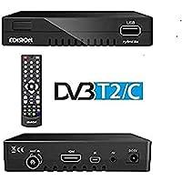 Receptor de Cable Edison Progresivo híbrido Lite DVB-C para TV por Cable Digital (Full HD, HDMI, USB 2.0, Reproductor de Medios, WLAN Opcional)