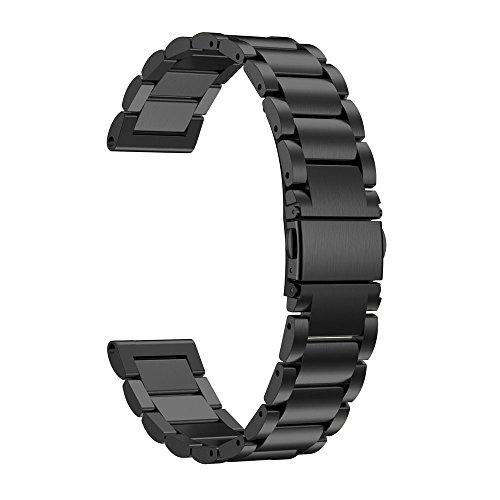 Pour Garmin Fenix 5S GPS Watch Bracelet ,Clode® 175mm Bracelet en acier inoxydable bracelet en acier inoxydable Pour Garmin Fenix 5S GPS Watch (noir)