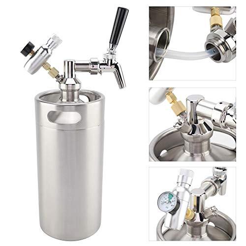 Dispenser per birra,3.6l spillatore birra professionale in acciaio inox,adatto a famiglie,bar ecc