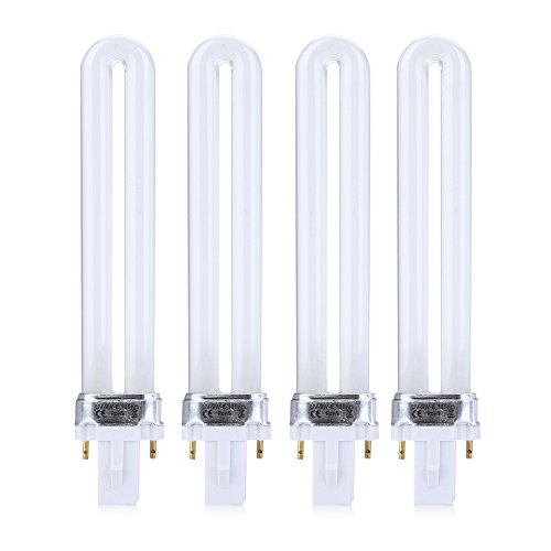 4pcs 9w tubo uv per chiodo essiccatore lampada lampadina sostituzione tubo di lampada uv per macchina uv gel nail art lampada di polimerizzazione
