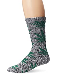 HUF Plantlife Crew Socks black heather green / noir Taille Uni