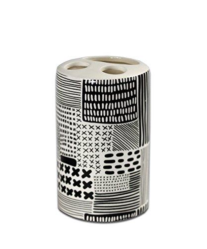 Accessori Bagno In Ceramica Decorata.Vetrineinrete Set 4 Pezzi Accessori Bagno In Ceramica