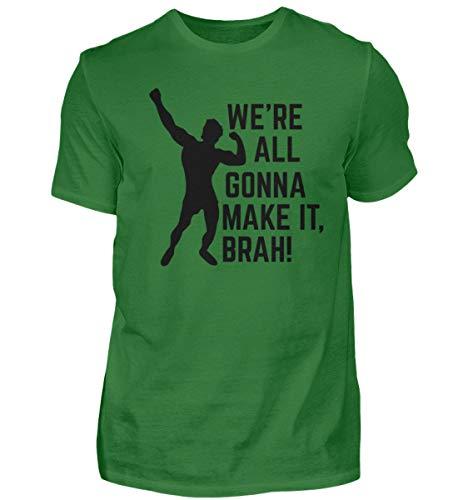 We're All Gonna Make IT BRAH! Gym Sport Motivation Shirt Tank Top Fitness Training - Herren Shirt -L-Kelly Green