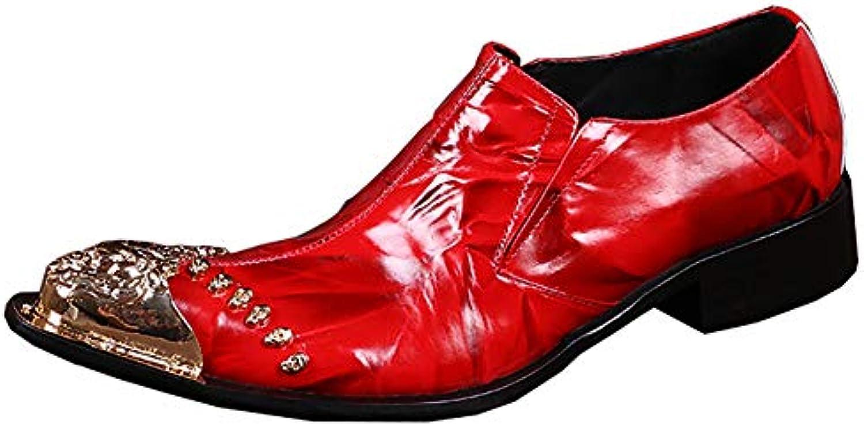 & 65509;scarpe Scarpe da Uomo in Pelle a Punta Formali da Sposa per Ufficio Matrimoni e ricevimenti   Materiali Di Altissima Qualità    Sig/Sig Ra Scarpa