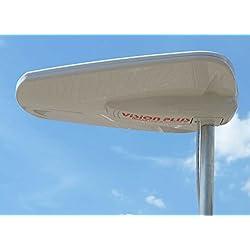 Système de 450antenne TV numérique d'image pour Les caravanes, Camping-Cars/Bateaux-Blanc
