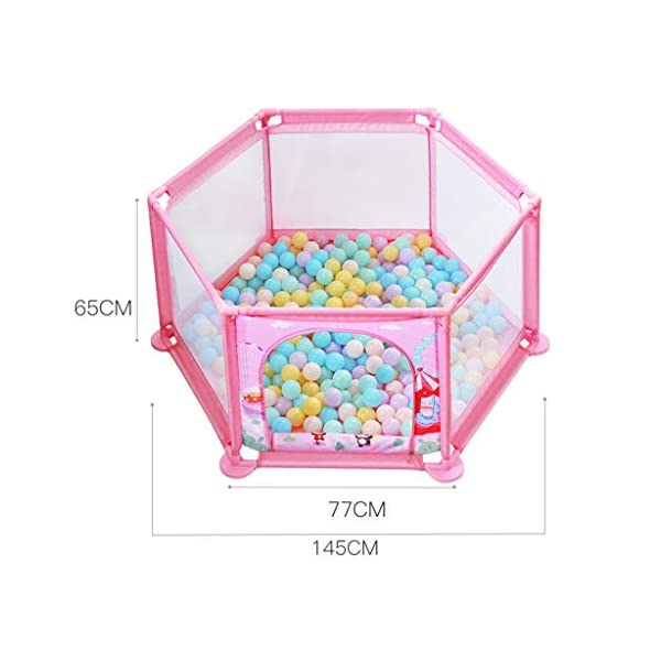 Playpens ,6 Panels Portable Foldable Folding,Children's Play Fence Home Drop-proof Baby Indoor Toddler 145 * 65 * 77cm (color : B) Playpens ★ hexagonal children's fence, size: 147 * 65 * 77cm, applicable number: 2~3 people, applicable age: 5 months to 3 years old, material: ABS angle PVC connector Oxford cloth net ★Playpen is the baby's little world, several small baby can play a role inside the game, play house, such a space, the ability to exercise various aspects of your baby, your baby is no longer playing outside all day makes the body dirty just trouble ★Are you a lot of toys for your baby makes a mess at home to worry about? In fact, is an oversized toy fence saving cabinet, you can put your baby's toys on the fence, usually to let your baby play in the fence, that meets the baby playing on the mind, but also to maintain a clean and tidy home 2