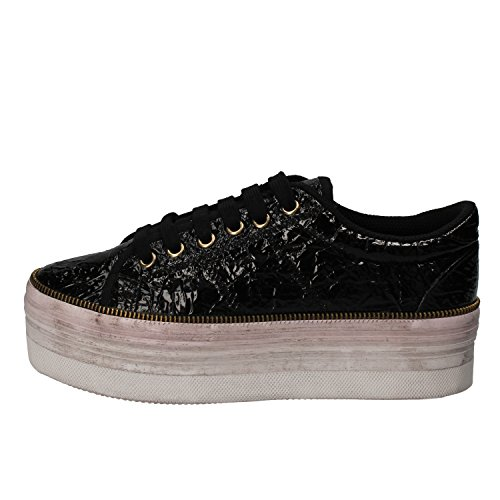 JC PLAY BY JEFFREY CAMPBELL Sneaker Donna Pelle Verniciata Nero 40 EU
