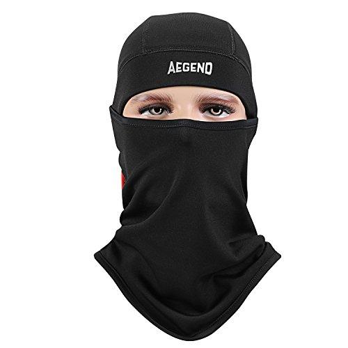 Schwarz(Logo) Sturmhaube, Aegend Ski Gesichtsmaske Polyester